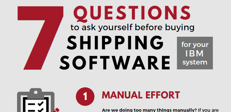 Save on Shipping Infographic Varsity Logistics IBMi